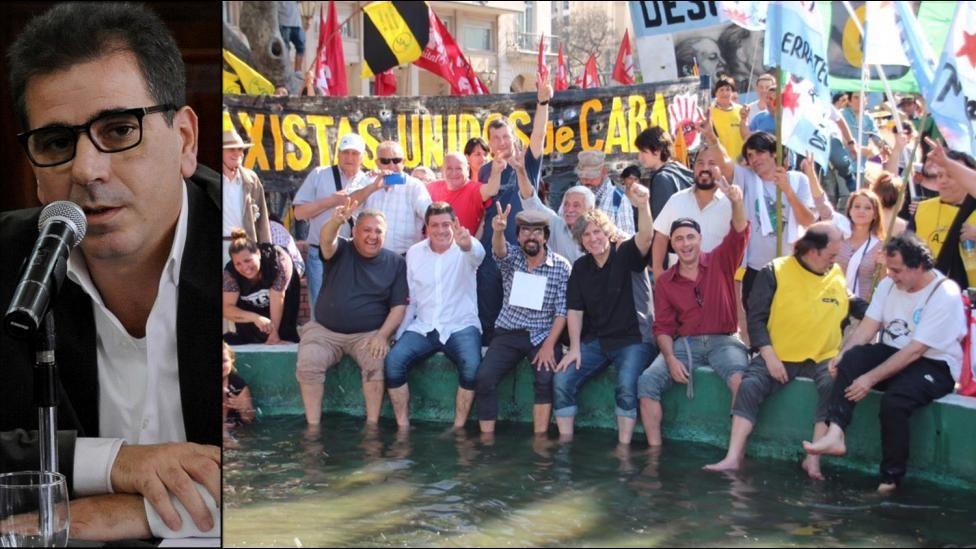 Sindicatos protestan contra Macri y planean paro general — Argentina