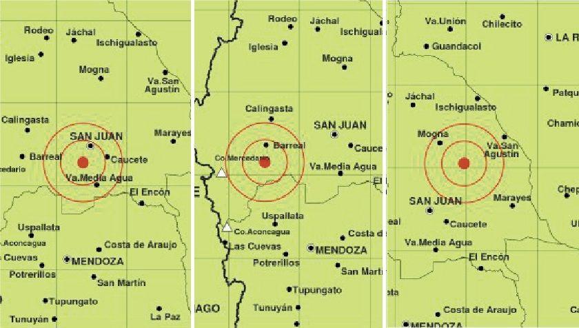 Sismos de 4.7 a 5.1 en la escala Richter sacudieron San Juan
