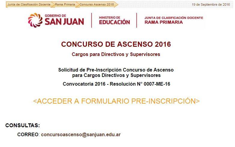 Se habilit la preinscripci n para el concurso de ascenso for Vacantes concurso docente 2016