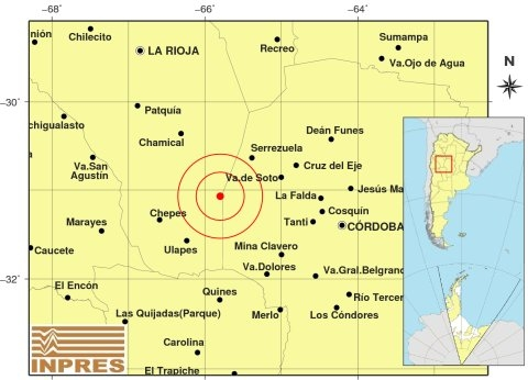 Un fuerte temblor sacudió a Córdoba