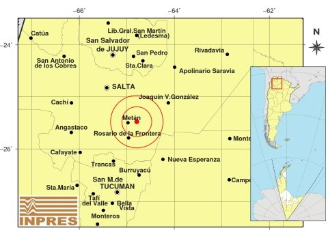 Fuerte sismo sacudió a Salta en la madrugada de este sábado