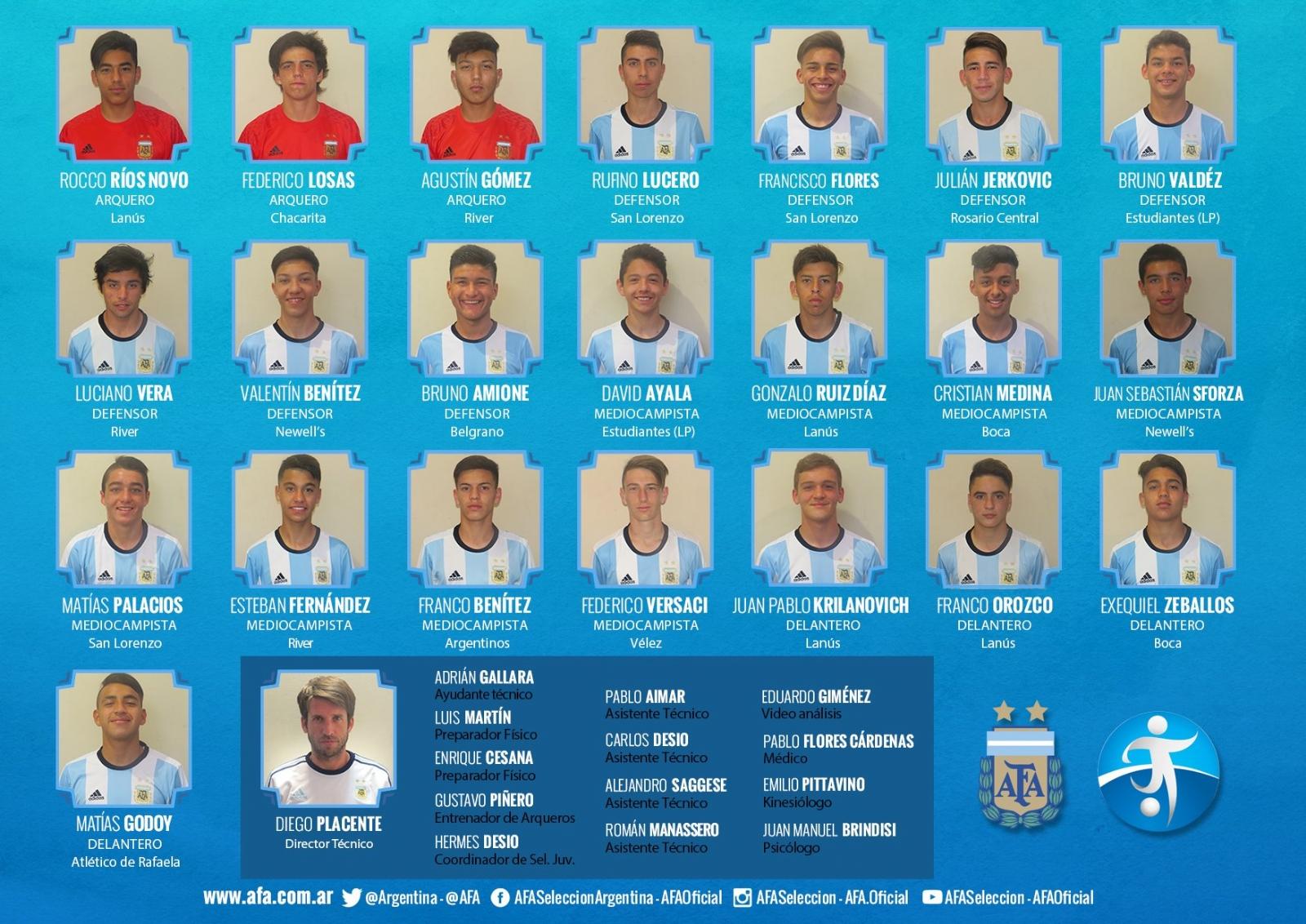 Argentina debuta en el Sudamericano Sub 15