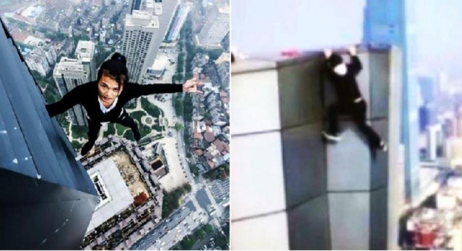 Filmó su propia muerte al caer de un edificio de 62 pisos