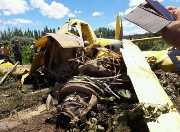 Cayó un avión fumigador y su piloto murió