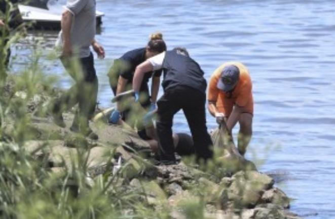 Encontraron un cuerpo flotando en la costa de Vicente López