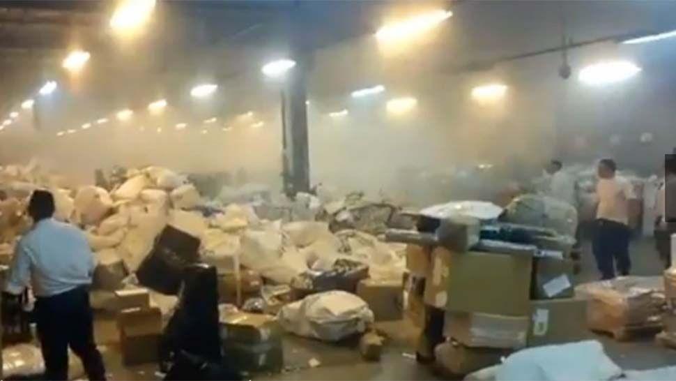 Explosión en una sede del Correo Argentino en Esteban Echeverría