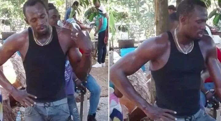 Usain Bolt conmovió a todos cavando la tumba de Germain Mason