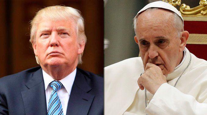 Papa Francisco pide a Trump trabajar por la paz