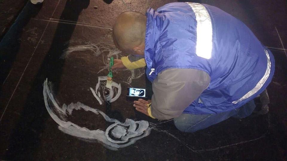 La imagen de Sarmiento llegó a las sendas peatonales de Capital