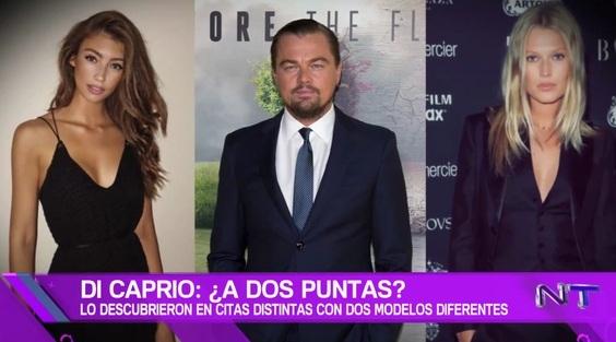 Leonardo DiCaprio salió con dos modelos distintas el mismo día