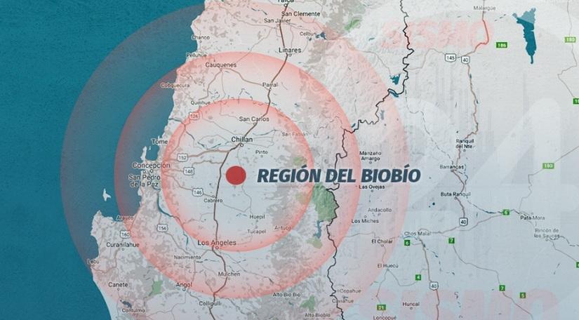 Sismo de 5.1 grados sacude al sur de Chile