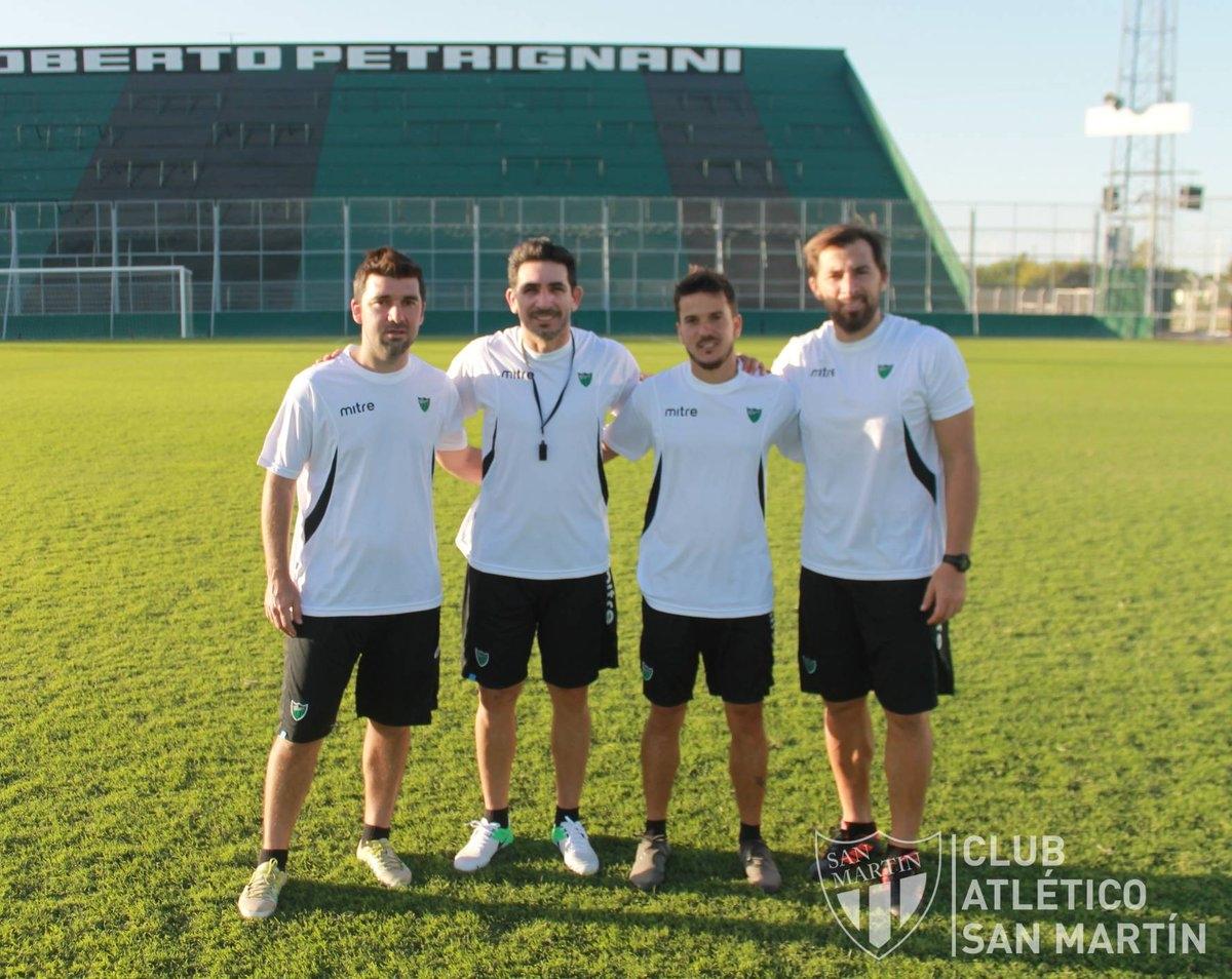 Gastón Coyette dirigió su primera práctica en San Martin