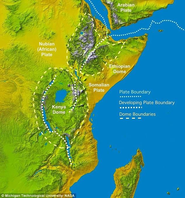 Una grieta está separando el Cuerno de África del resto del continente
