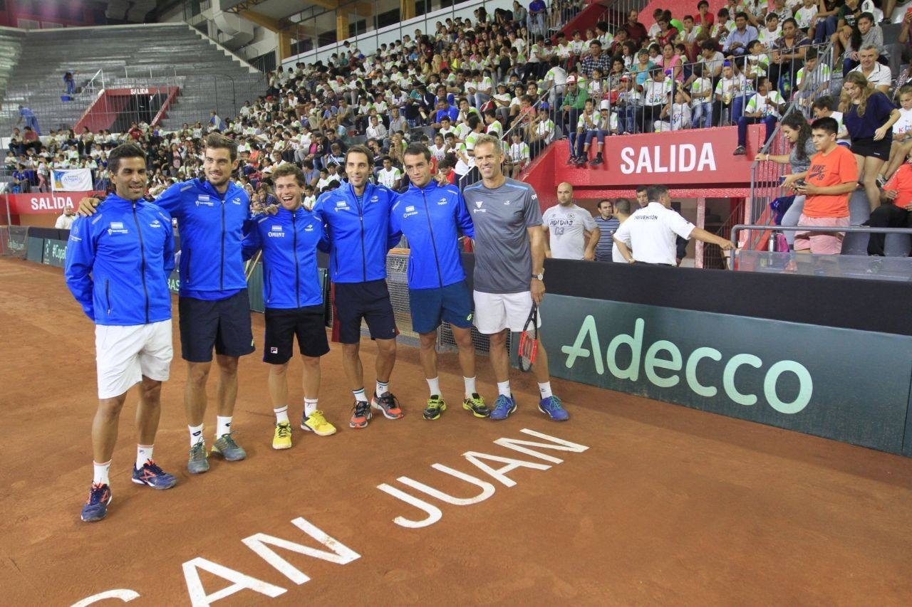 Argentina entrenó de cara al duelo con Chile por la Copa Davis