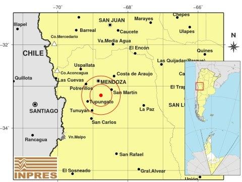 Se sintió fuerte un sismo de 4,6º grados en Mendoza