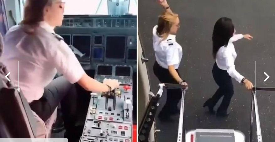Piloto mexicana hace ''Chona Challenge'' en avión