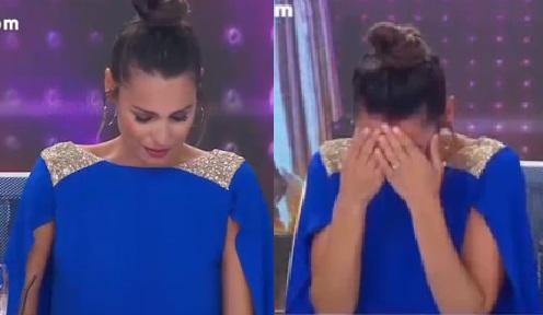 Pampita se largó a llorar en pleno programa de