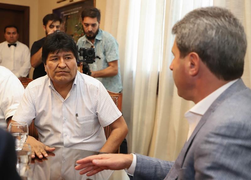 Evo Morales llegó a Mendoza