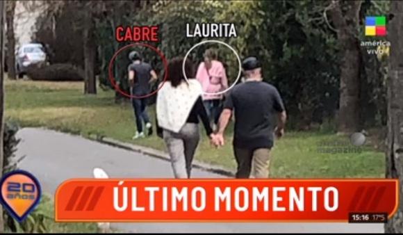 Laurita Fernández y Nicolas Cabré, juntos en una foto: ¿se reconciliaron?