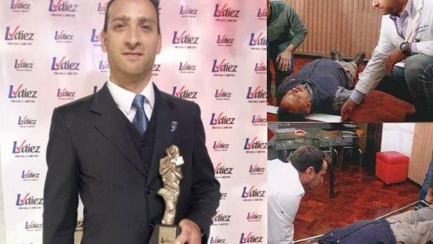 El sanjuanino creador de la camilla inteligente recibió el Premio Raíces