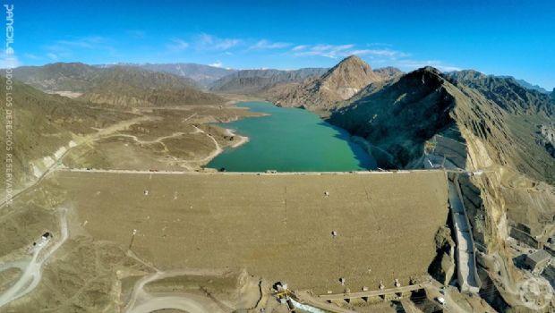 Mirá las fotos aéreas del llenado del dique Punta Negra