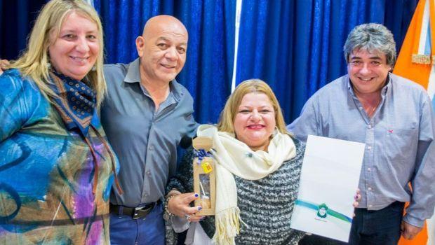Claudia Pirán fue declarada Huésped de Honor en Ushuaia