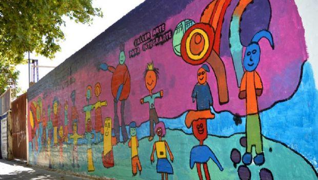 """Presentaron el mural """"Somos tan distintos e iguales"""""""