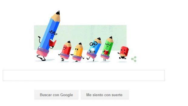 """Google festeja con su doodle el """"Día del maestro"""""""