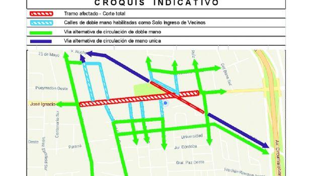 Informaron los avances y trabajos previstos hasta fin de año en la avenida Central
