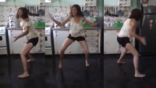 Ama de casa e instructora de zumba se animó a hacer una coreo con el hit del albañil