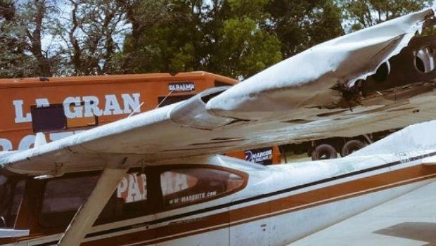 Marcos Di Palma tuvo un grave accidente en su avión, se salvó pero dejó sin luz a una ciudad