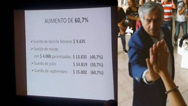 San Luis dio el batacazo con aumentos salariales entre el 38 y el 61%