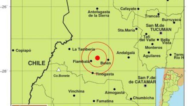 Un sismo de 5 de magnitud sacudió a Catamarca