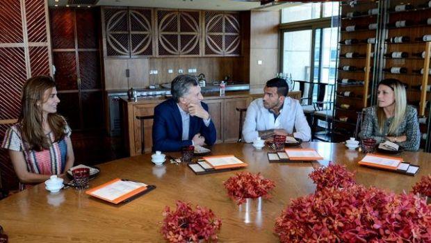 Macri se reunió con Tévez en Shanghai