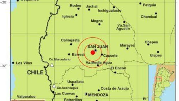 Dos sismos se registraron en San Juan y Mendoza en las últimas horas del jueves