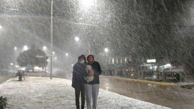 La nevada sorprendió a Buenos Aires