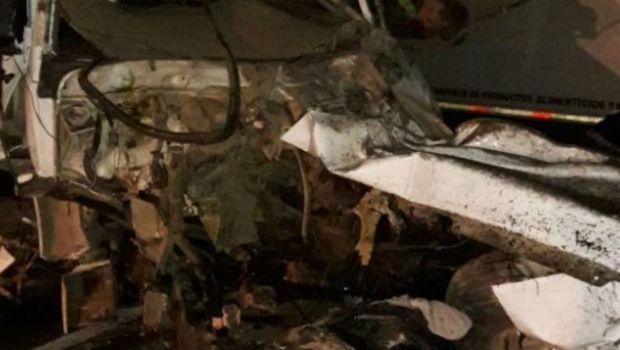 Chocaron dos camiones en Ruta Nacional N°3 y hubo un muerto