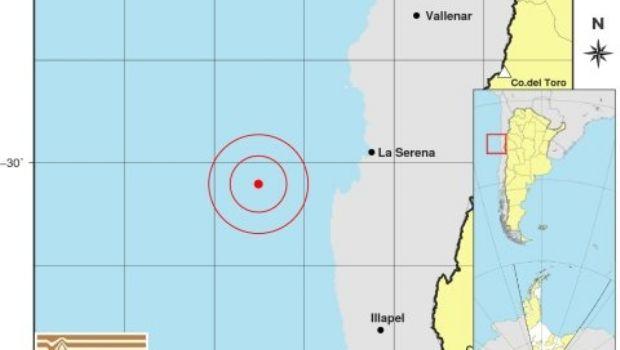 Fuerte temblor se registró en las costas de La Serena en Chile