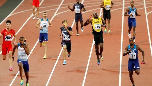 Usain Bolt se lesionó y abandonó la última carrera de su vida profesional