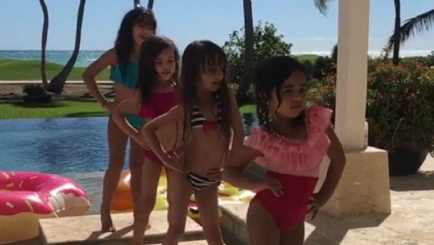 La hija de Luis Fonsi la rompe bailando