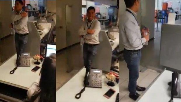 Video: Pánico en banco por aparición de nena fantasma