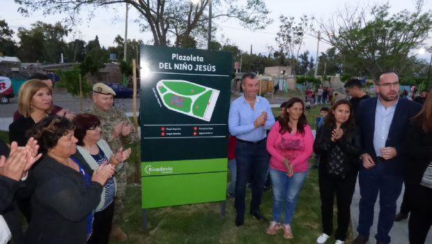 Rivadavia: inauguraron las obras  de la Plaza del Niño Jesús en Marquesado