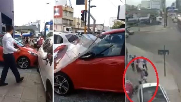 Una mujer quiso escuchar cómo sonaba el motor de un 0km y terminó destrozando todo