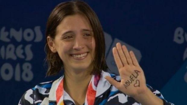 """""""Abuela"""": el emotivo mensaje de Delfina Pignatiello, medalla de plata en natación"""