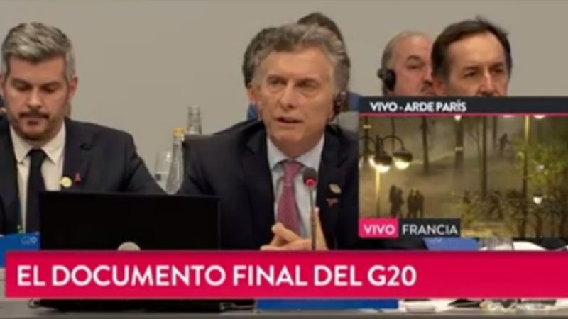 Macri dio detalles del documento final del G20
