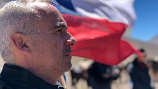 Los expedicionarios llegaron al límite con Chile y vivieron un emotivo acto en la frontera