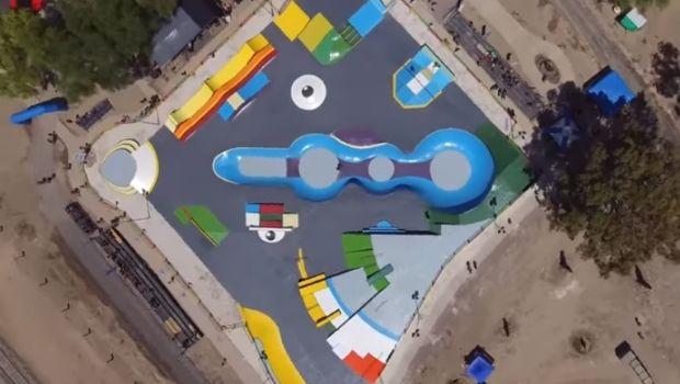 Así se ve el Skate Park de Caucete desde el cielo