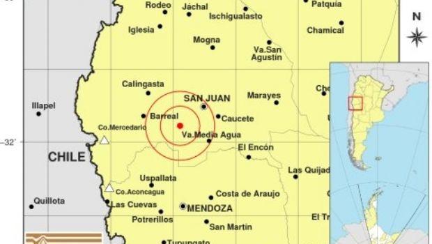 Un sismo se registró en San Juan en el mediodía de este martes
