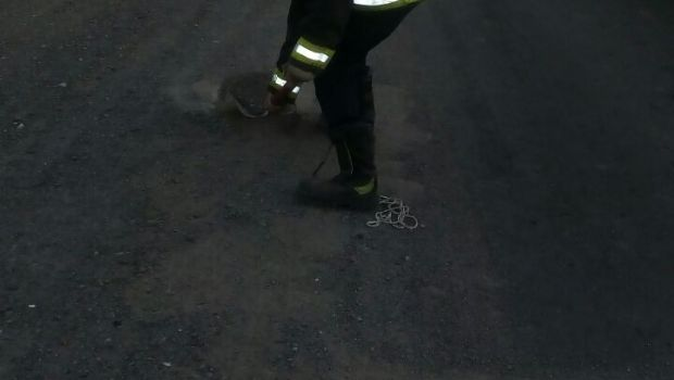 Otra vez un camión derramó combustible en la ruta, esta vez en Albardón