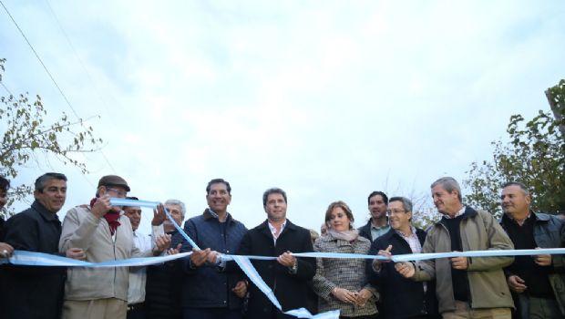Pocito: inauguraron obras de pavimentación en el Lote Hogar Nº 13 y del barrio Los Lagares